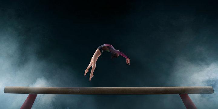 Female gymnast.
