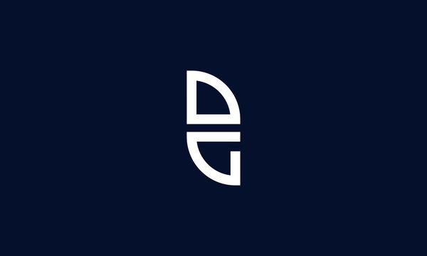 Elegant simple line art letter DG logo. This logo icon incorporate with letter D and G in the creative way.