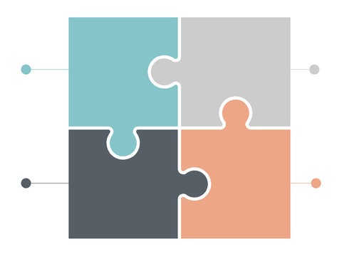 jigsaw puzzle or autism puzzle piece symbol flat vector icon for apps and websites