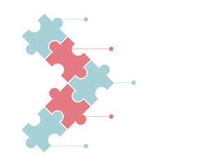 jigsaw puzzle or autism puzzle piece symbol flat vector icon for apps and websites Wall mural
