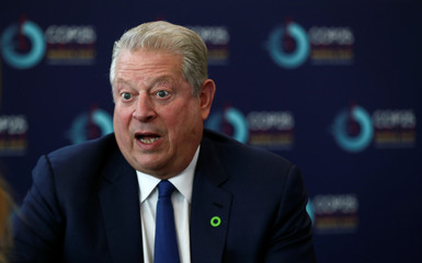 Former U.S. Vice President Gore speaks during an interview with Reuters at U.N. Climate Change Conference (COP25) in Madrid