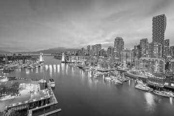 Wall Mural - Beautiful view of downtown Vancouver skyline, British Columbia, Canada
