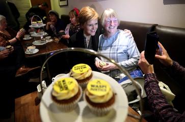 SNP leader Nicola Sturgeon campaigns in Paisley