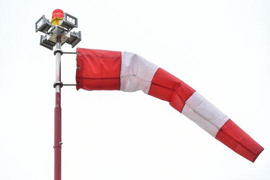 A wind gauge shot against outcast sky