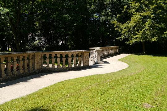 Balustrade im Garten Schloss Ellingen
