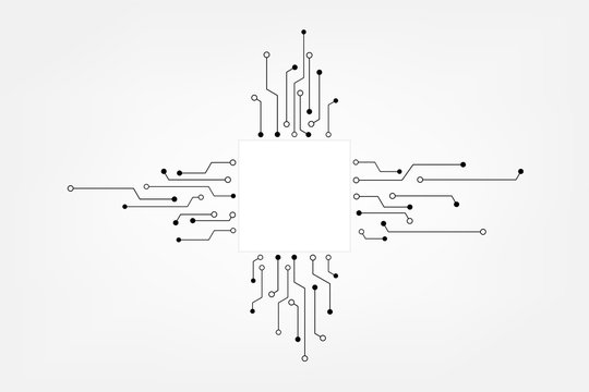 Vector circuit board and communication concept for technology background