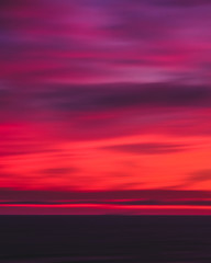 Wall Murals Crimson Blurry Sunset