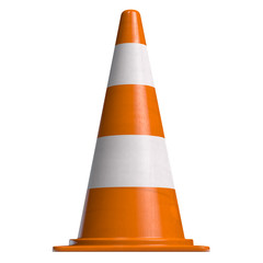 Traffic Cone Orange Isolated