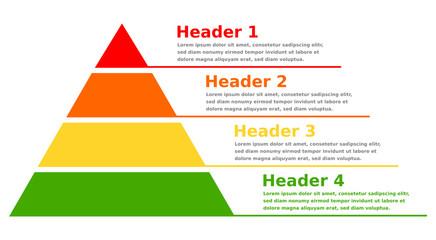 Pyramid infographic chart