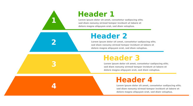 Pyramid infographic chart business design