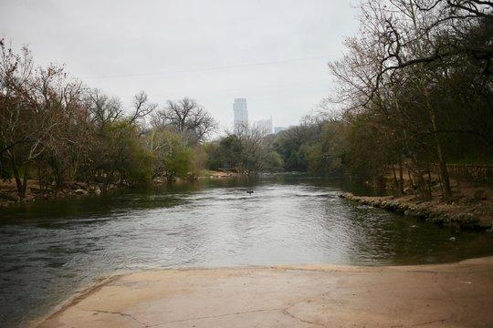 Barton Springs in Austin Texas in winter