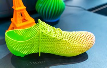 3d printed shoe figure close-up