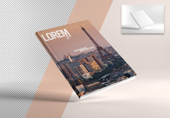 Mock Up of a Vertical A4 Book