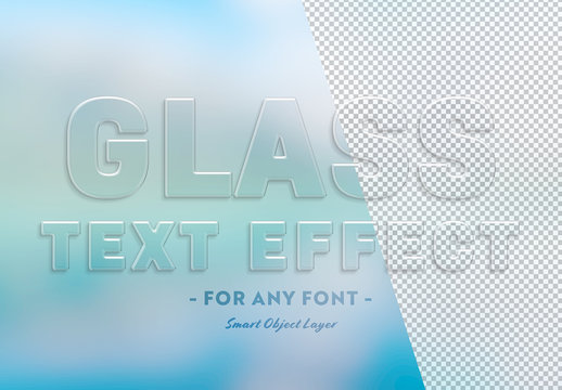 Transparent Glass Text Effect