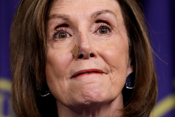 House Speaker Nancy Pelosi speaks about USMCA trade agreement on Capitol Hill in Washington