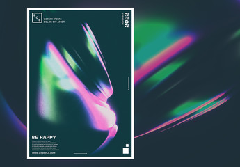 Event Poster Layout with Colorful Abstract Design