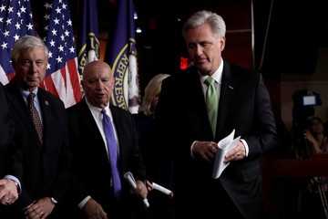 House Minority Leader Kevin McCarthy on impeachment announcement onCapitol Hill in Washington