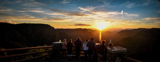 Foto op Canvas Zwart sunset at black canyon national park