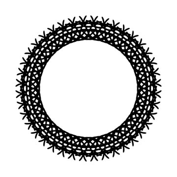 Rounded frame simple black white stamp put text decor vintage theme simple single. Part Art web sign lace icon style copy space blank empty card label badge Kite rays oval wave curl shape swirl lines