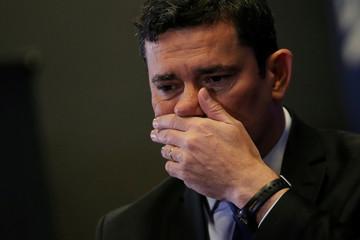 Brazil's Justice Minister Sergio Moro takes part in a seminary in Brasilia