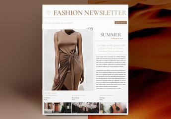 Fashion Newsletter Layout