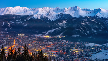 Zakopane, Mountains Tatry landscape, Poland, Europe