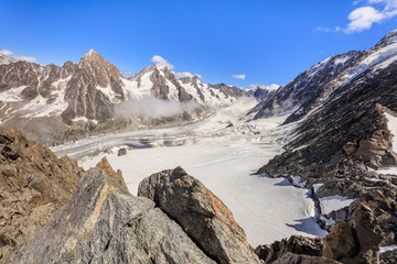 Wall Mural - Glacier des Rognons. Mont Blanc, France