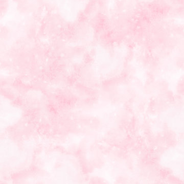 Abstract blurry pink watercolor background with stains