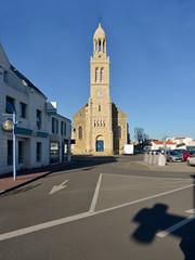 Sainte Croix Church at Saint-Gilles-Croix-de-Vie, commune in the Vendée department in the Pays de la Loire region in western France