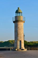 Lighthouse in the port of Saint-Gilles-Croix-de-Vie, commune in the Vendée department in the Pays de la Loire region in western France