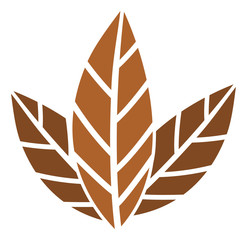 Tobacco leaves vector icon. Flat Tobacco leaves symbol is isolated on a white background.