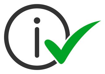 Truth information vector icon. Flat Truth information symbol is isolated on a white background.
