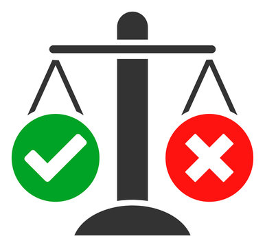 Truth decision vector icon. Flat Truth decision pictogram is isolated on a white background.