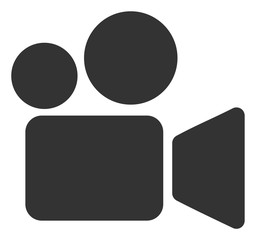 Video camera vector icon. Flat Video camera symbol is isolated on a white background.