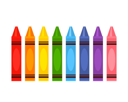 Crayola's large color pencil set in rainbow colors.
