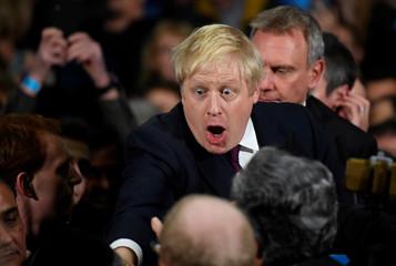 Britain's PM Johnson campaigns in Manchester