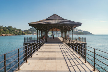 Blake Pier at Stanley. Stanley bay. Hong Kong island.