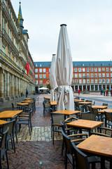 Foto op Canvas Illustratie Parijs Plaza Mayor, Madrid, Spain.
