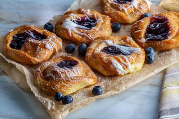 Blueberry Danish Snail Pastries Fototapete