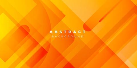 Fresh Orange Yellow Circle Line Abstract Background Presentation Vector Illustration