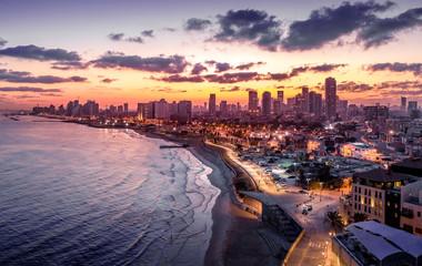 Tel Aviv, Ramat Gan, Givatayim aerial view in Israel