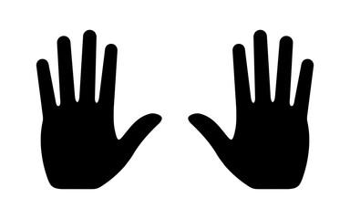 Fototapeta dłoń ikona