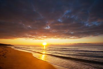 Foto auf AluDibond Braun Sea sunset