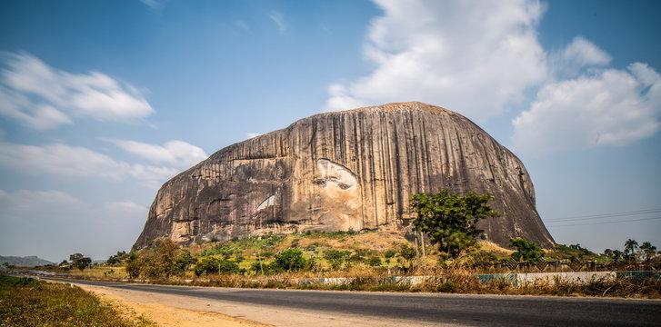 Zuma Rock Near Abuja, Nigeria