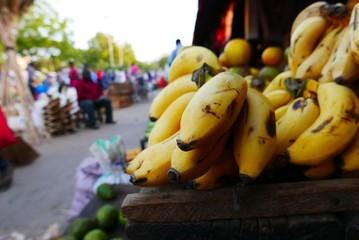 Spoed Fotobehang Zanzibar Bananas Market Zanzibar