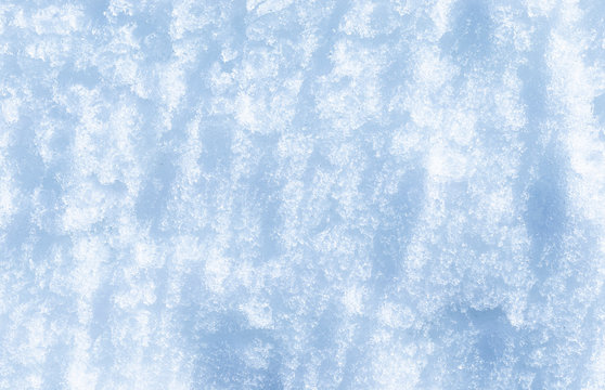 Blue and white snow abstraction