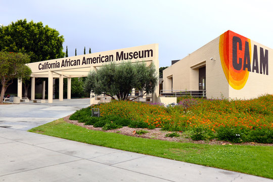 Los Angeles, California - September 28, 2019: CAAM California African American Museum at Exposition Park, Los Angeles