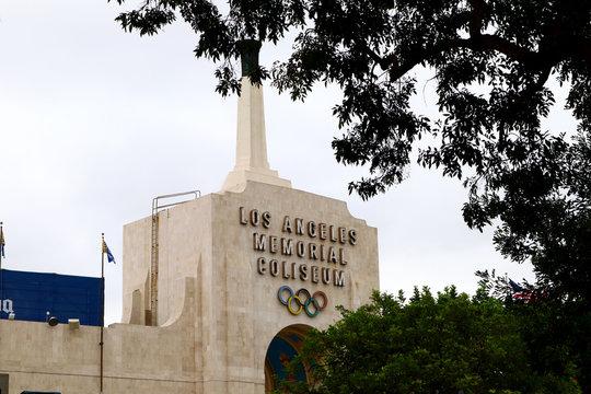 Los Angeles Memorial Coliseum located in the Exposition Park, Los Angeles, California