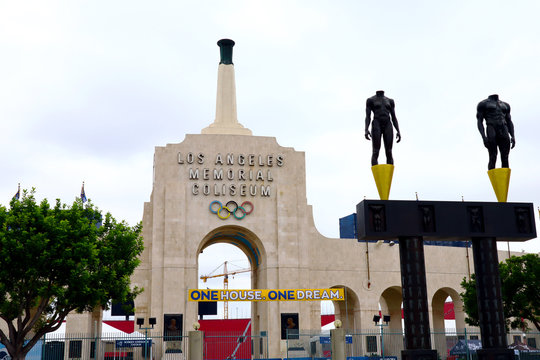 Los Angeles Memorial Coliseum located in the Exposition Park - Los Angeles, California