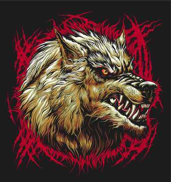 Bad wolf head
